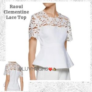Raoul Clementine Top White Lace